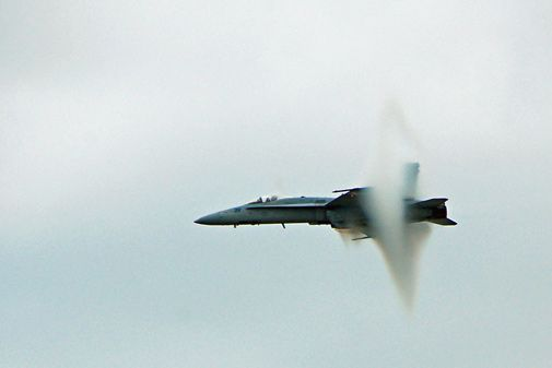 A scene from this year's airshow at Pope Air Force Base in North Carolina.