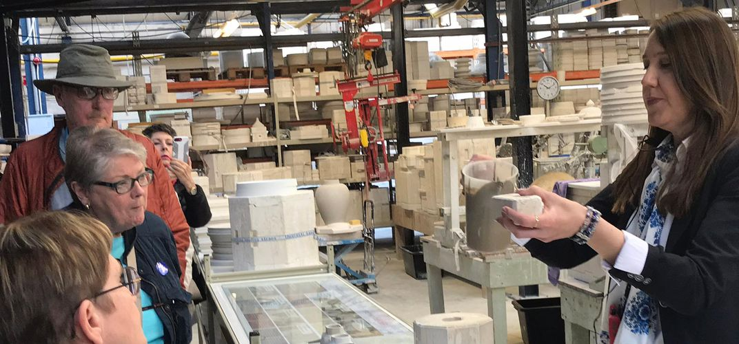 Tour of the Delft factory
