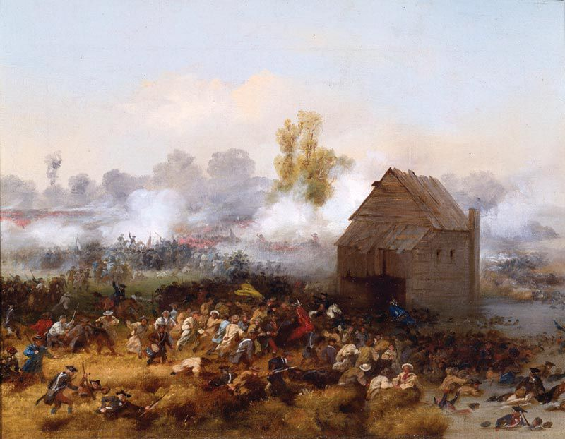 A 19th-century painting of the 1776 Battle of Brooklyn by Alonzo Chappel