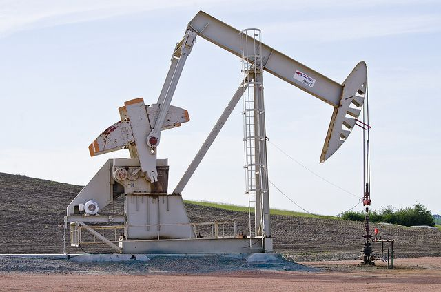 An oil well in North Dakota
