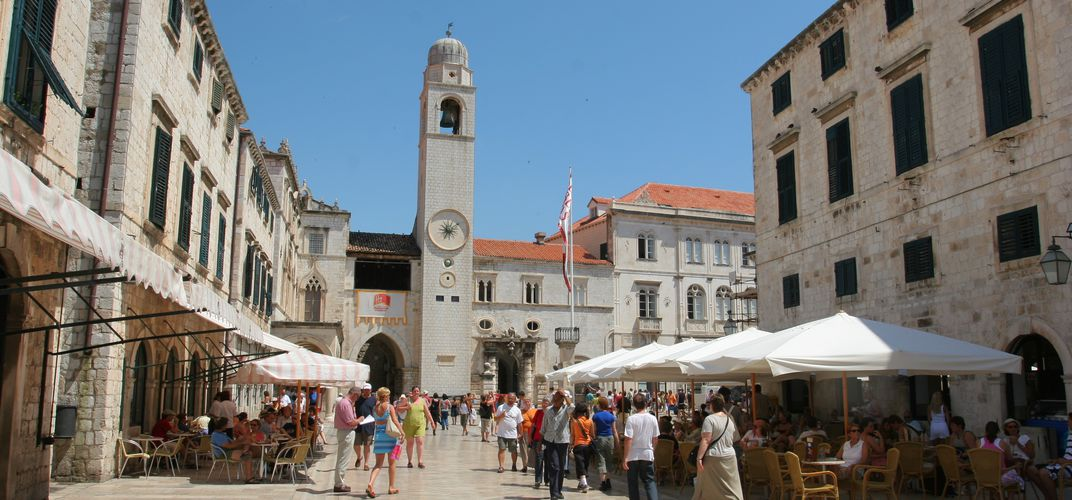 Traditional street in Dubrovnik