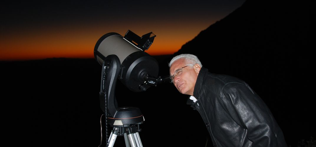 Sky watching through one of many telescopes at Smithsonian's Whipple Observatory. Credit: David Aguilar