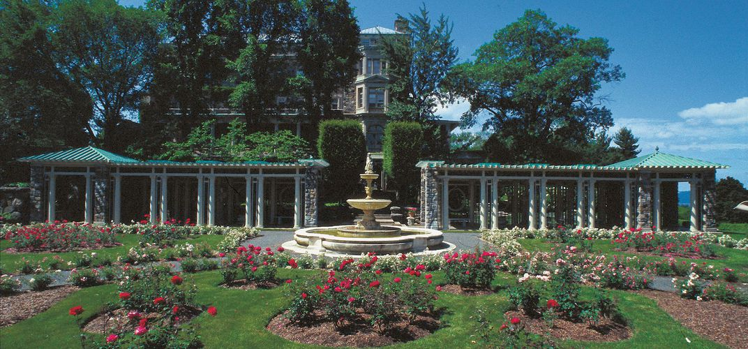 The rose garden at Kykuit. Credit: Bryan Haeffele