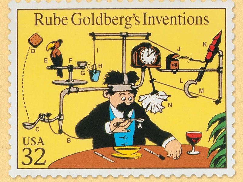 The Story Behind Rube Goldberg S Complicated Contraptions