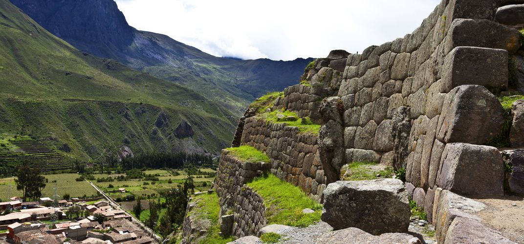 The site of Ollantaytambo in the Sacred Valley