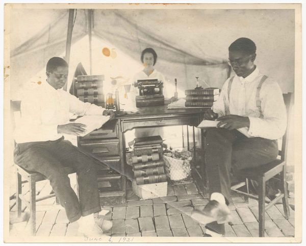 B.C. Franklin in Red Cross Tent