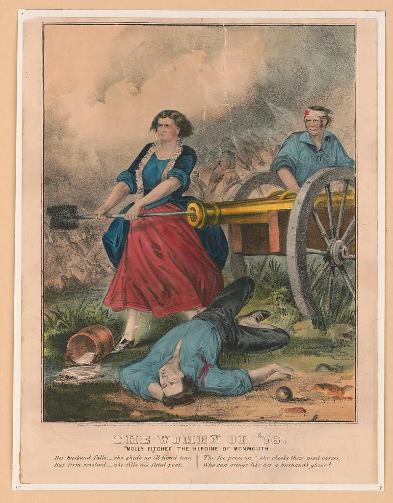 Currier & Ives lithograph of Molly Pitcher