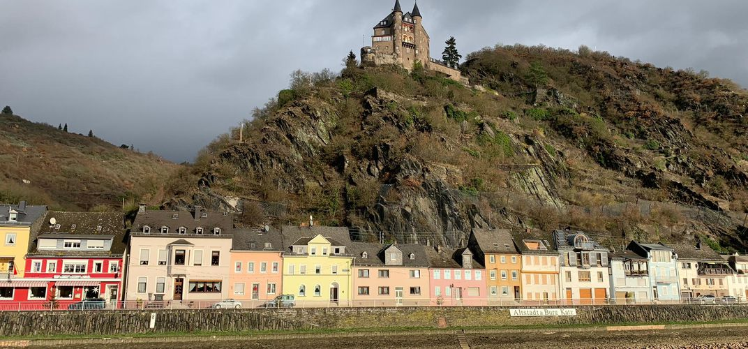 Passing through the Rhine Gorge. Credit: Meghan Nash