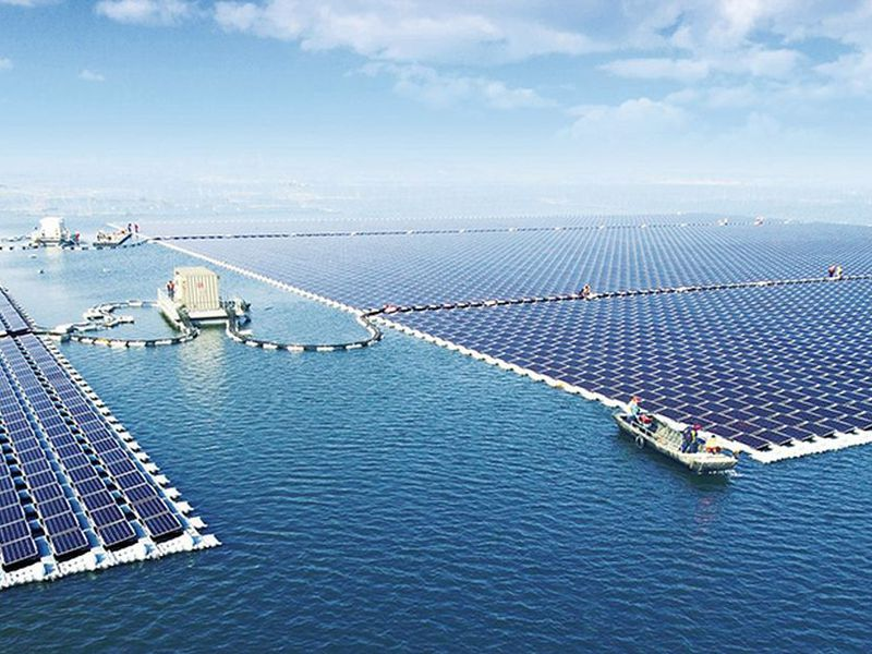china turns on the world s largest floating solar farm smart news