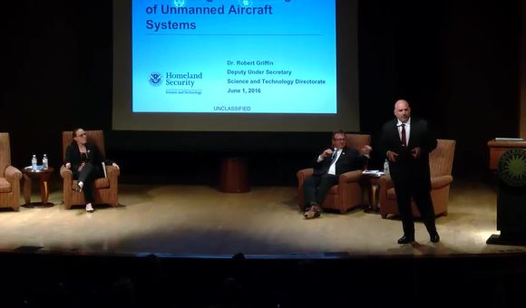 Preview thumbnail for video'Wednesday, June 1, 2016: PANEL: Unmanned Aircraft Systems (UAS): Integration in the Global Security Environment