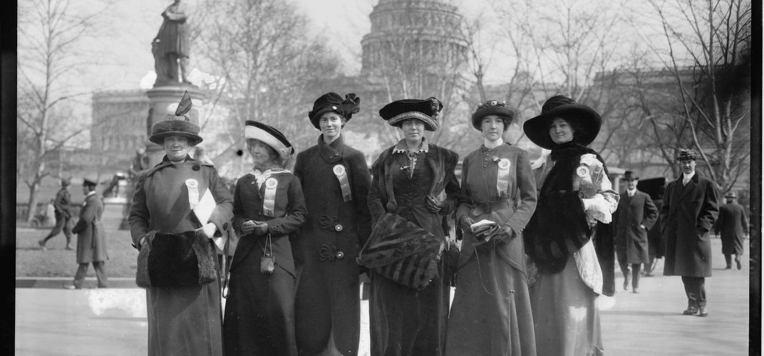 March for women's suffrage, Washington, D.C. Credit: Library of Congress