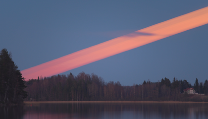 A Streak in the Sky: Photographer Captures an Incredible Time-lapse Image of the Moon