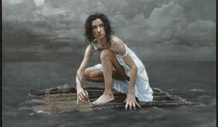 Life Raft / Katie O'Hagan / Oil on canvas / Collection of the artist