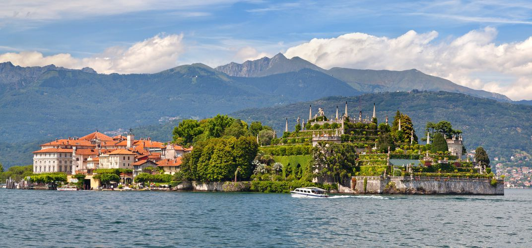 The lovely Borromean island of Isola Bella, located on Lake Maggiore