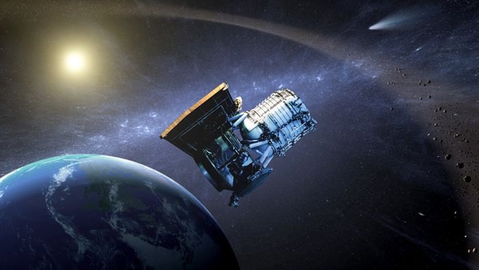 An artist's rendition of the Wide-field Infrared Survey Explorer