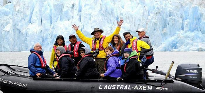 Arctic-blue glaciers and spectacular scenery of Alaska