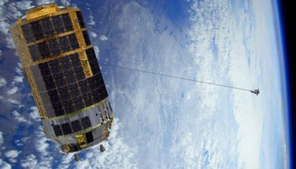 "Japan Testing ""Space Tether"" to Knock Junk Out of Orbit"