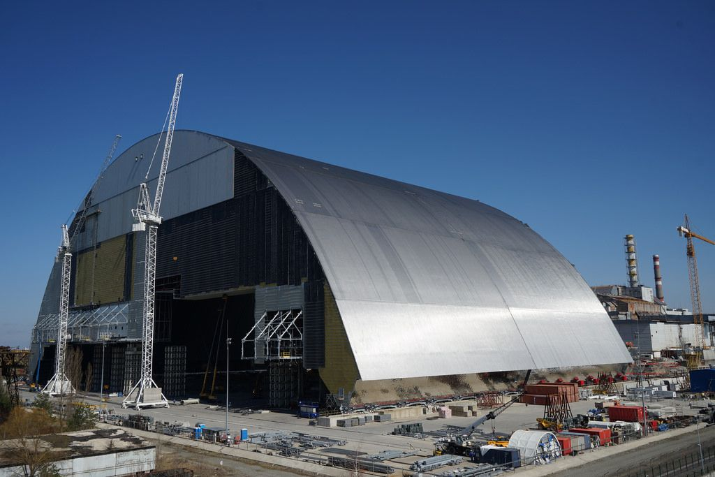 thirty years later a gigantic arch is set to cover chernobyl