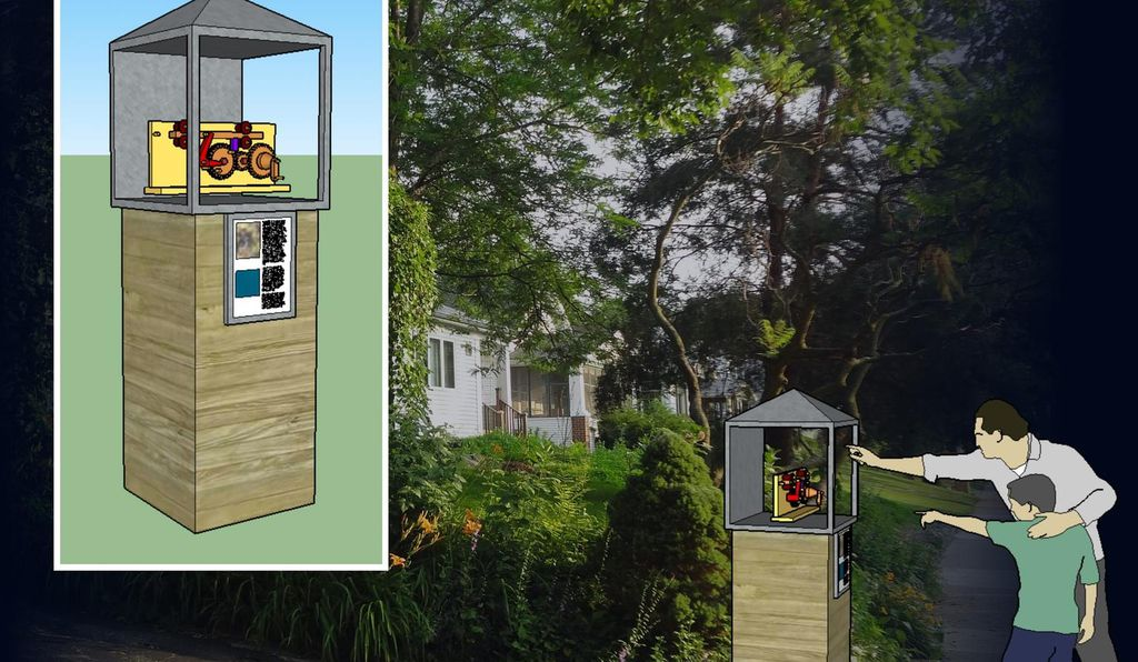Inspired by Little Free Libraries, the Little Free Museum would have rotating exhibitions.