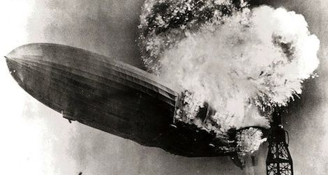 The Hindenburg disaster was captured on camera and in eye-witness accounts.