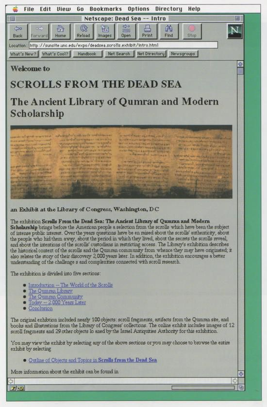 "A ""virtual exhibit"" on the Dead Sea Scrolls from UNC"