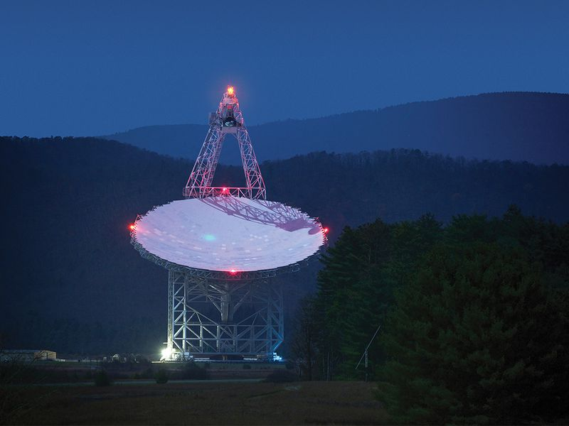 The Green Bank radio telescope