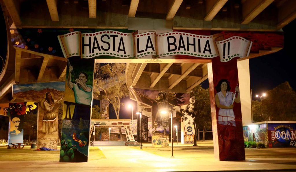 Plans are underway for a Chicano Park Museum and Cultural Center (above: under the Coronado bridge in the Chicano Park) featuring the park's mural artists.