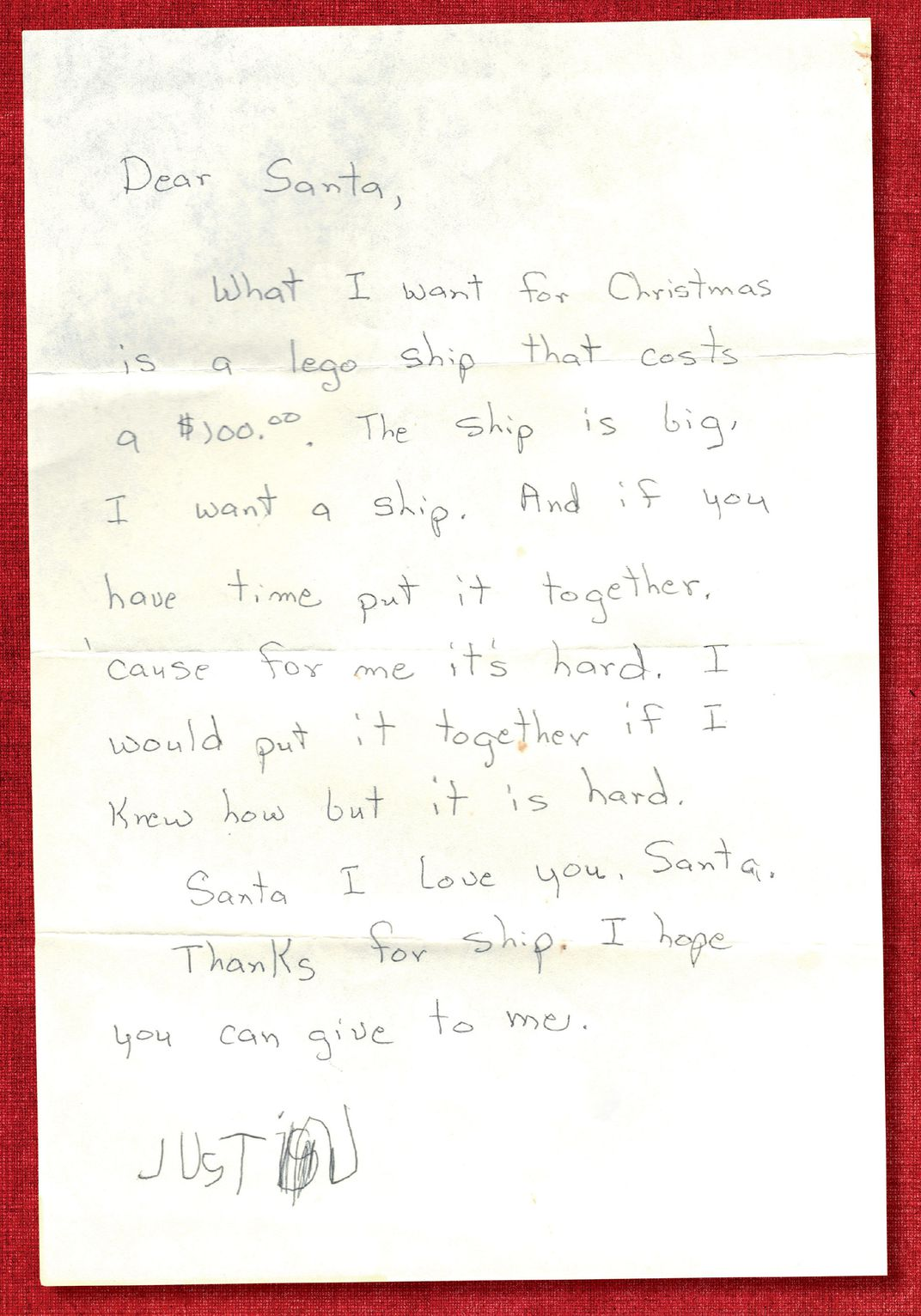 a letter to santa from the 1980s santa claus museum and village