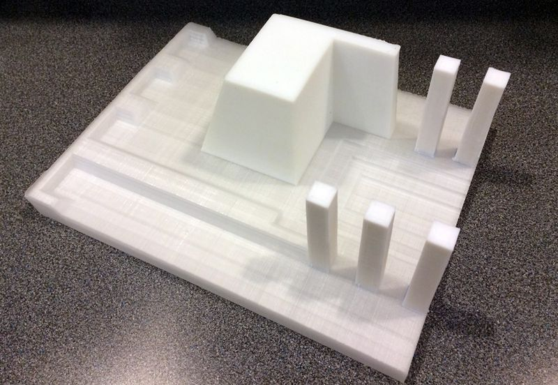 A partial mold 3D  printed using Acrylonitrile Butadience Styrene (ABS) (image courtesy FSC)