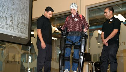 This Exoskeleton Is Actually Controlled by the Wearer's Thoughts