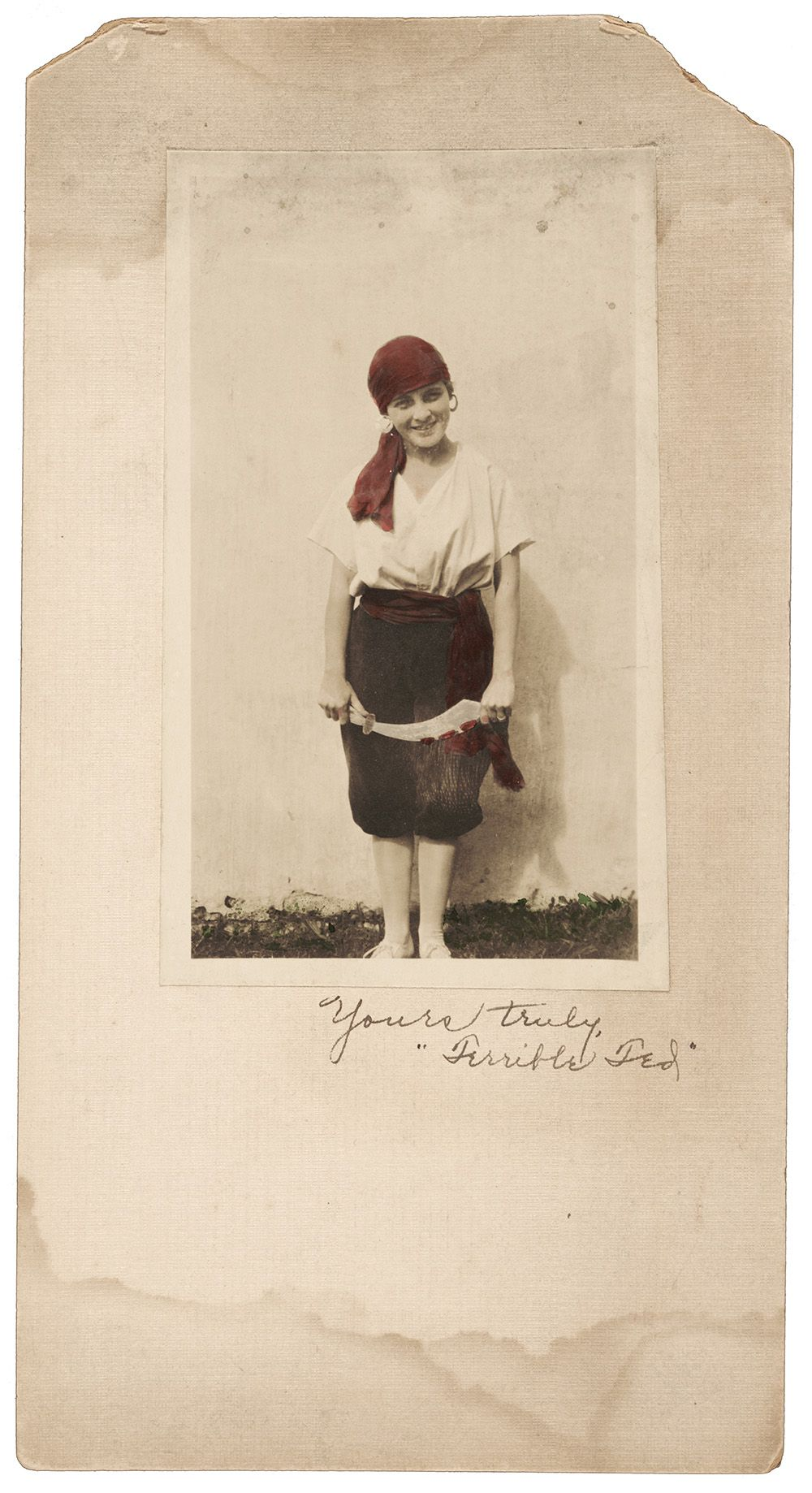 Photograph of Georgianna Webster in a pirate costume