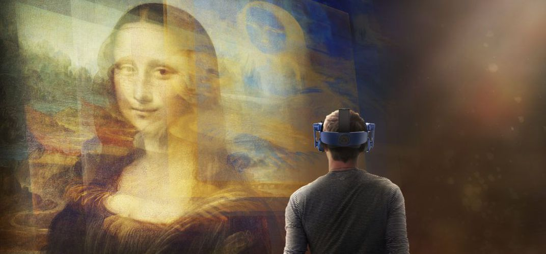 Caption: VR Project Lets Visitors Get Close to 'Mona Lisa'