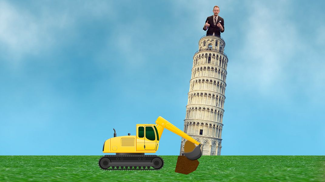who constructed the leaning tower of pisa