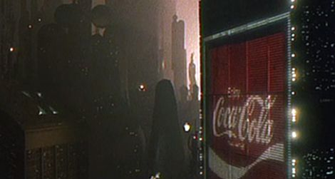 Digital billboard in 2019 Los Angeles from the film Blade Runner (1982)