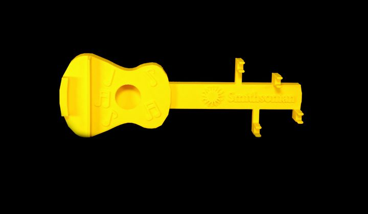3D printed guitar from Smithsonian Science for Makerspaces