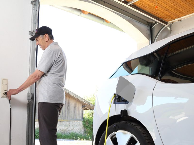 Most garages can double as EV charging stations.