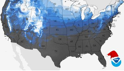 Here Are Your Odds of Getting a White Christmas