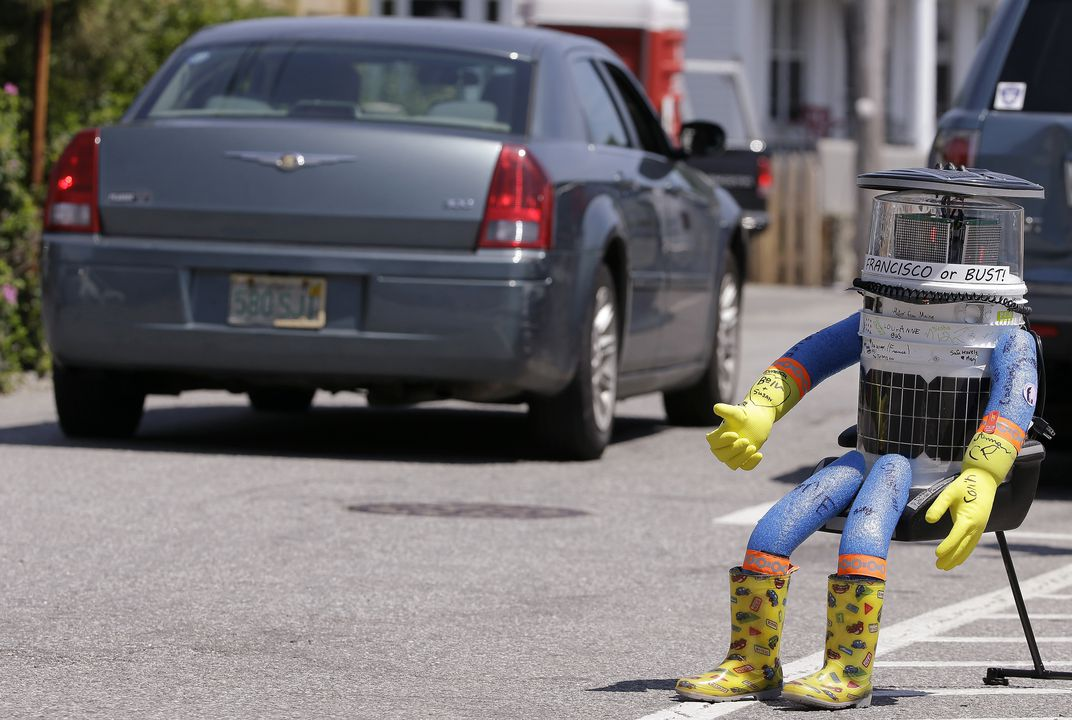 Hitchhiking robot runs into trouble in Philly