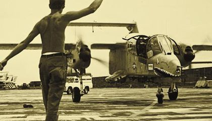 A Bronco returns to Udorn Air Base Thailand.