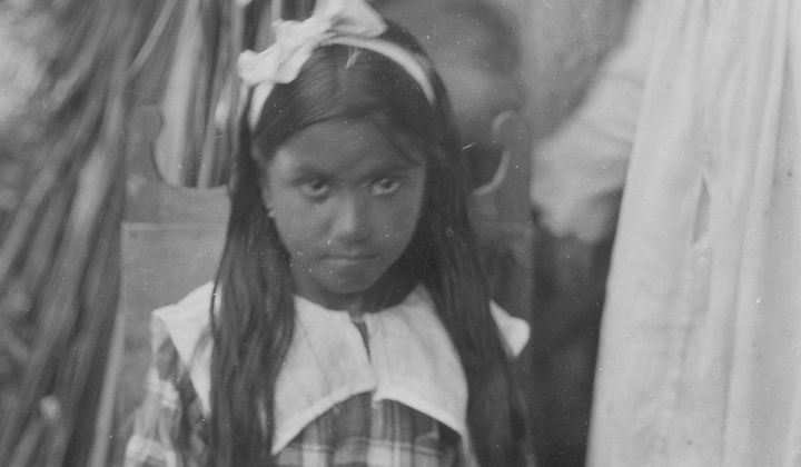 Unidentified Native child near Baracoa, Cuba, 1919. Detail of photo by Mark Raymond Harrington. NMAI N04470