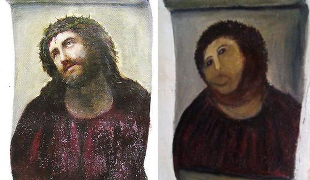 In 2012, a similarly botched restoration of this