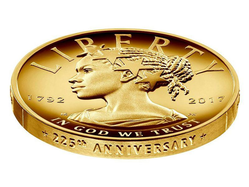 New $100 Coin Features First-Ever African-American Lady