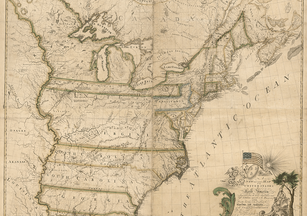 The First Map Of America Drawn In 1784 History Smithsonian