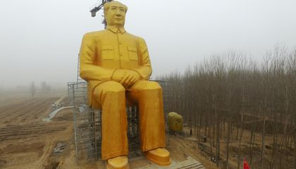 Chinese Capitalists Built a Gigantic, Golden Statue of Chairman Mao
