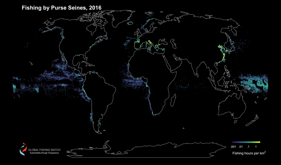 Tracking Fishing Vessels Reveals Industrys Toll On The Ocean - Satellite fishing maps