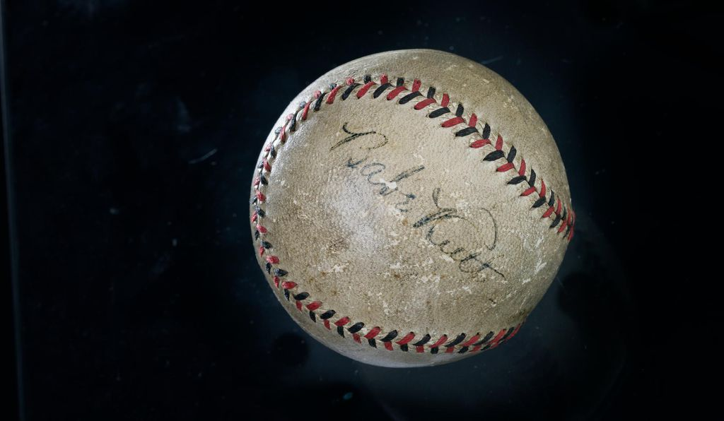 The National Museum of American History holds a baseball autographed by Ruth, and donated by a man whose father asked Ruth to autograph it for him during a Ruth visit to Scranton, Pennsylvania, in the 1920s.