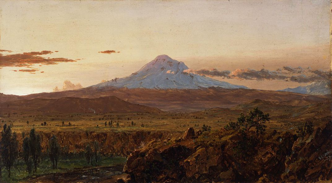 Mount Chimborazo Through Rising Mist and Clouds, Frederic Church, 1857