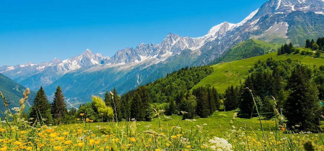 The French Alps, outside Chamonix