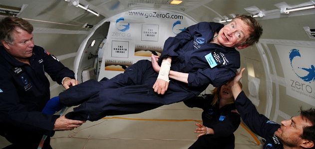 For his 65th birthday, Stephen Hawking took a ride in zero gravity.