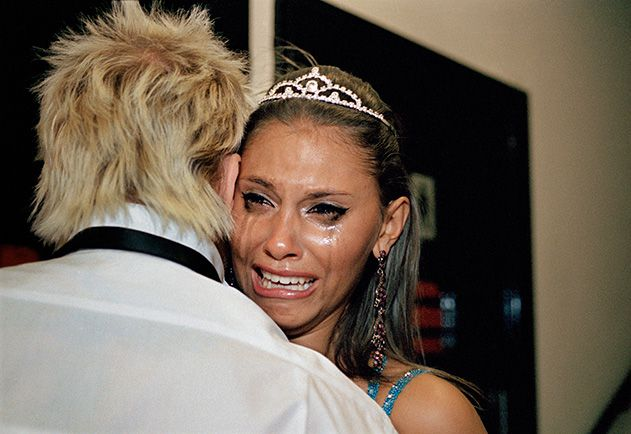 Crying beauty pageant